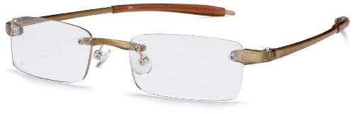 Visualites 201 Reading Glasses,Khaki Frame/Clear Lens,1.50 Strength,48 mm