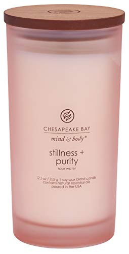 Chesapeake Bay Candle Mind & Body Large Scented Candle, Stillness + Purity (Rose Water)