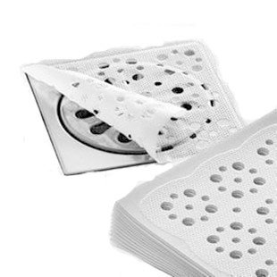 Naledi 20pcs de cuisine et de salle de bain jetables filtre Cheveux de décapage des stickers Anti-encrassement (12x 12cm)