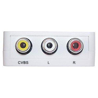 Mini RCA AV/CVBS Composite to HDMI V1.4 Adapter Converter for PC PS3 VCR DVD PAL NTSC
