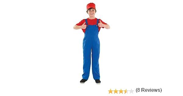 Boys Toys - Disfraz de súper Mario Bros para niño, talla L (8-10 ...