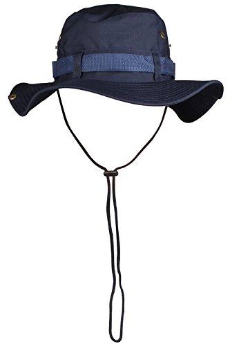 [JIERKU navy blue bucket hat bucket style hat circle brim hat dark blue bucket hat Navy] (Straw Farmer Hats)