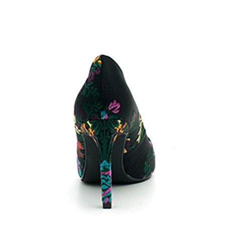 Hauts Mouth Black Talon Shallow Talons Femmes Classique Chaussures Xie Fine Pointues XqFwS1T