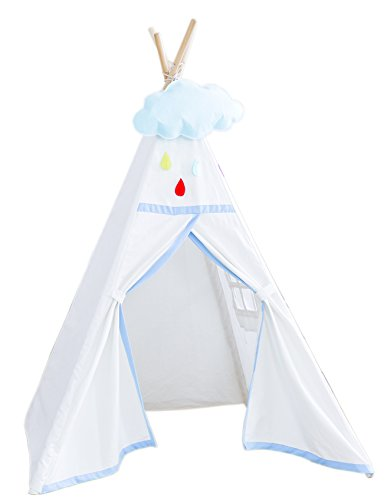 Sweety-ins Indian Teepee Tent Children Playhouse Kids Play Room Top One Window Style White by Sweety-ins