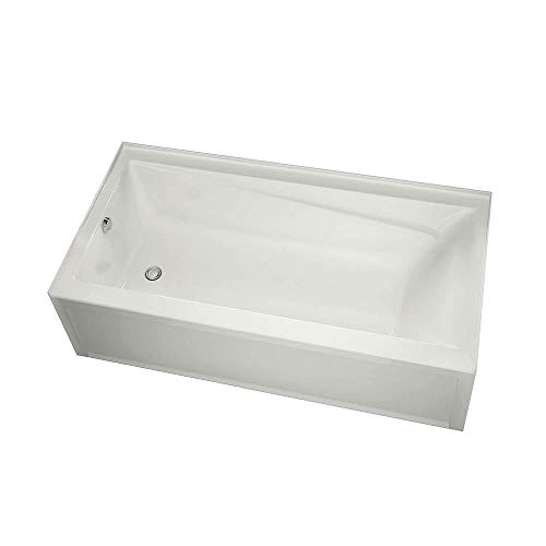 MAAX 106172-L-000-001 Exhibit Acrylic Left-Hand Bathtub 59.875-in L x 36-in W x 18-in H White ()