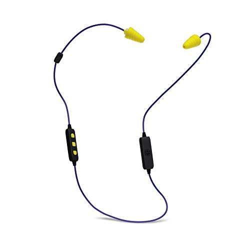 Plugfones® Liberate 2.0, Wireless Bluetooth Earplugs with Audio, 26 dB NRR, 12 Hour Battery Life, Noise Isolating Mic and Controls