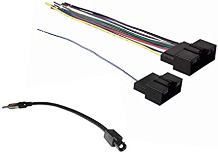 Amazon.com: Car Stereo Wire Harness and Antenna Adapter ... on audi stereo wiring harness, ford stereo wiring harness, auto stereo wiring harness, toyota stereo wiring harness,