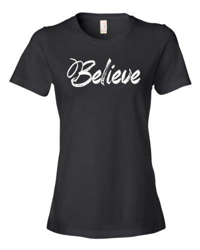 Believe Tee Shirt Womens L black U