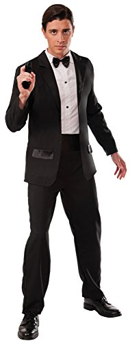 James Bond Costume Party (Forum Novelties Men's Secret Agent Deluxe Costume Tuxedo, Multi, X-Large)