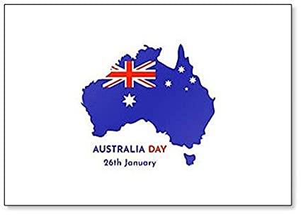 Map Of Australia 26th Parallel.Amazon Com Map And Silhouette Of Australia Australia Day 26th
