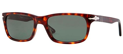 Persol Men's PO3048S Sunglasses Havana/Crystal Green 58mm from Persol