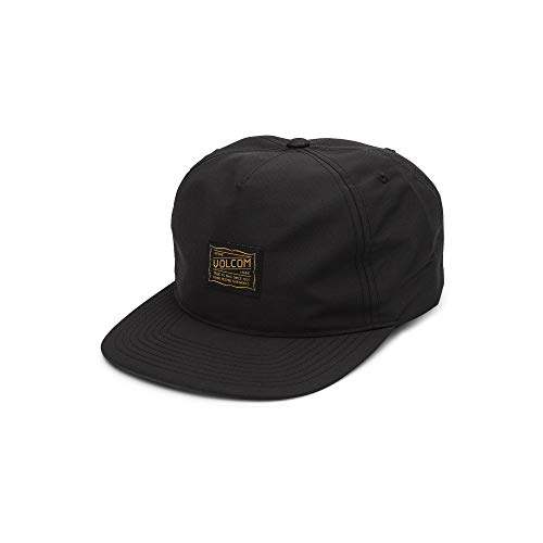 Volcom Men's Road Test Five Panel Snap Back Hat, Black, One Size Fits All (Best 5 Panel Hats 2019)