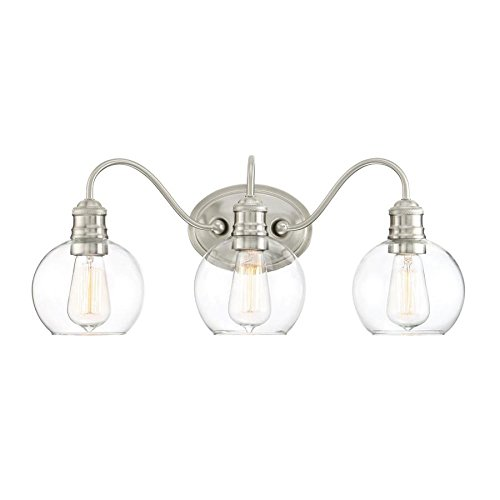Soho 3-Light 9.5-in Brushed Nickel Globe Bathroom Vanity Light ()