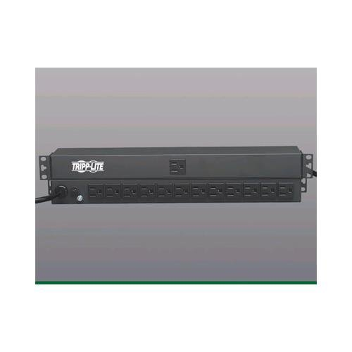 TRIPP LITE 12-outlets 15ft-cord 15a horizontal rackmount pdu strip 1u-0u PDU1215 - Horizontal Rackmount