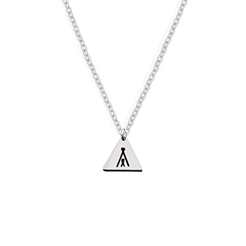 BNQL Triangle Teepee Necklace Love My Tribe Necklace (Silver)