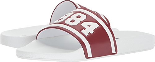 Dolce & Gabbana Hombres Pool Slide Sandal Red / White