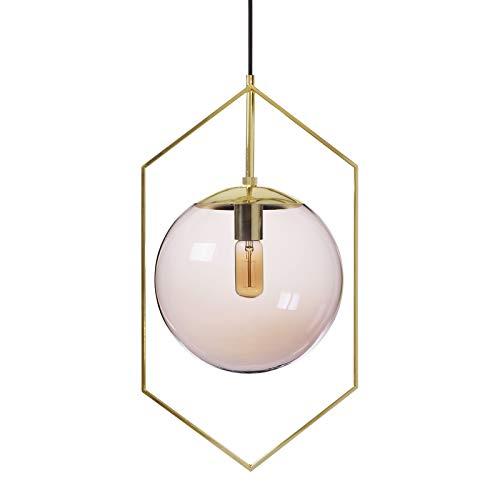 Pink Globe Pendant Light