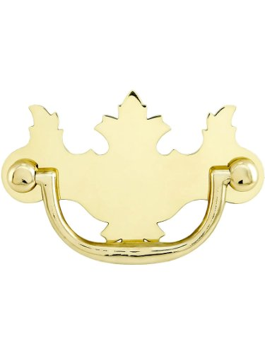 Center Polished Brass Bail Pull - Chippendale Brass Bail Pull - 2 1/2