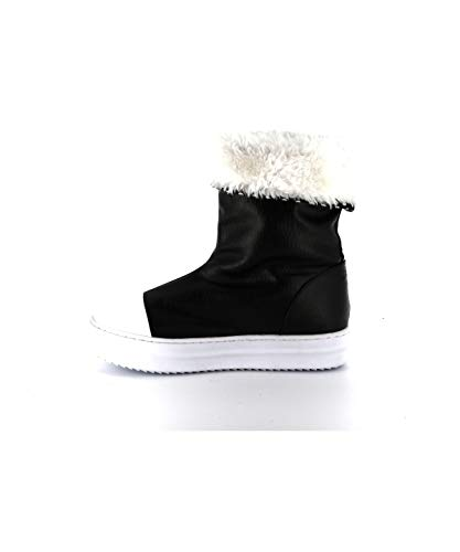 Cassis Abby Boots Cote Fourrées D'azur Noir 84I8qr