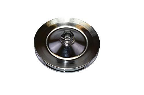 Power Steering Pulley Chrome Steel Chevy GM 5//8 Keyway Saginaw Single Groove