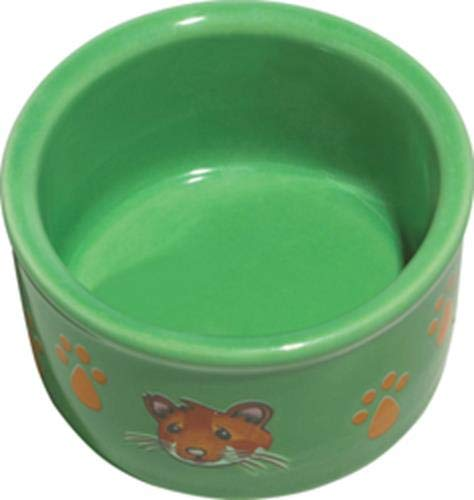 Kaytee Hamster Paw Print Dish, 3 Inch, Colors Vary