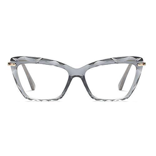 Cat Eye Reading Glasses Frame Crystal Womens Quality Readers Glasses (Gray, 1.0) ()