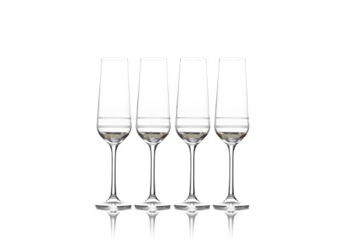 Mikasa Lux Platinum Champagne Flute, 8-Ounce, Set of - Champagne Platinum Glass