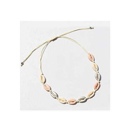 - Newest Trendy Jewelry Summer Gold Rose Gold Silver Handmade Women Shell Necklace Chokers Gift,Al003,26-66Cm