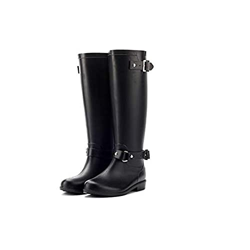 Womens Back Tall Winter Rain Wellies Waterproof Wellington Boot on sale