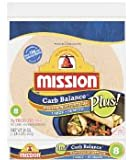 Mission Carb Balance Large/Burrito Whole Wheat Tortillas 8 per package (Pack of 6)