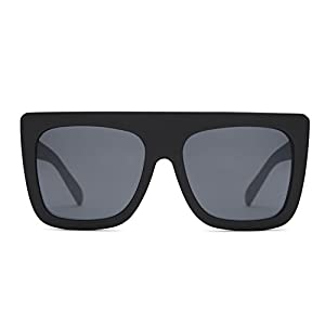 Quay Australia CAFÉ RACER Women's Sunglasses Oversized Boxy Bold - Black/Smoke