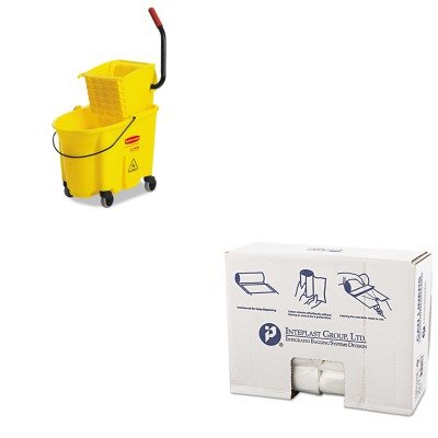 - KITIBSS303716NRCP758088YW - Value Kit - Integrated Bagging Systems S303716N Natural 16 Mic High Density Can Liners, 30quot; x 37quot; (IBSS303716N) and Rubbermaid WaveBrake Yellow 35 Quart Side Press Mop Bucket Combo (RCP758088YW)