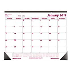 Brownline 2019 Monthly Desk Pad Calendar, 22 x 17 inches (C1731-19) (Home Chipboard)