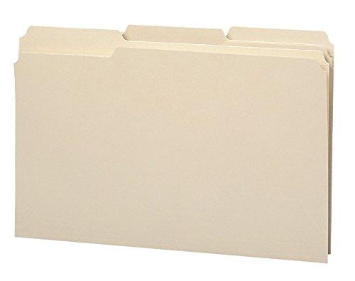 Smead Heavyweight File Folder, Reinforced 1/3-Cut Tab, Legal Size, Manila, 100 Per Box (Position Legal 100 Box)