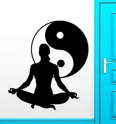 Amazon.com: Yoga calcomanía de vinilo salud de meditación ...