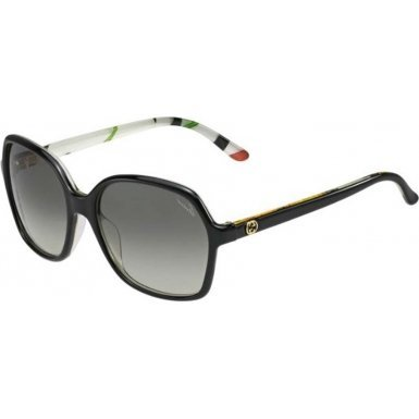 Gucci 3632/N/S Z96 Black Floral / Crystal 3632/N/S Butterfly Sunglasses Lens - With Sunglasses Butterfly Gucci