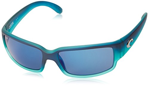 Costa Del Mar Caballito Sunglasses, Matte Caribbean Fade, Blue Mirror 580Plastic - Men Costa Sunglasses For