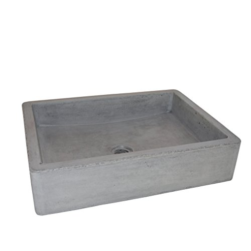 Native Trails NSL1915-A Nipomo Native Stone Universal-Mount Bathroom Sink, Ash (Decor Batroom)