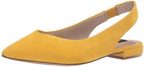 STEVEN by Steve Madden Women's Lourdes Mary Jane Flat Yellow Suede 6.5 M US (Steven Suede Heels)