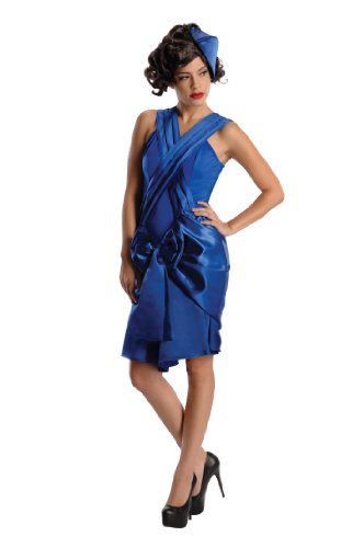 Secret Wishes Boardwalk Mob Wife Period Dress Costume, Blue, Large -