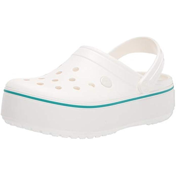 Crocs Men's and Women's Crocband Platform Clog   Comfortable Platform Shoes
