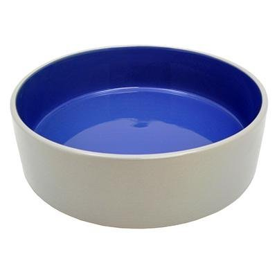 Stoneware Pet Food and Water Crock 9.5 inch 2 pack