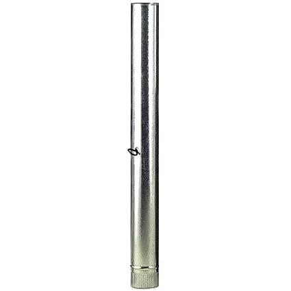 WOLFPACK 22010080 Tubo Estufa Galvanizado de 120mm con Llave