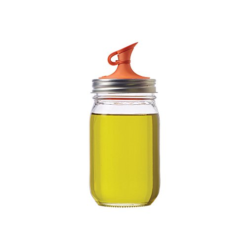 uet Lid for Regular Mouth Mason Jars, Orange ()