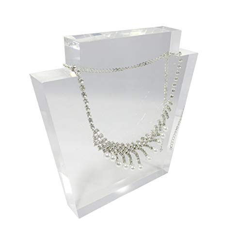 FixtureDisplays Clear Acrylic Plexiglass Necklace Jewelry Stand Display 11620-15 11620-15