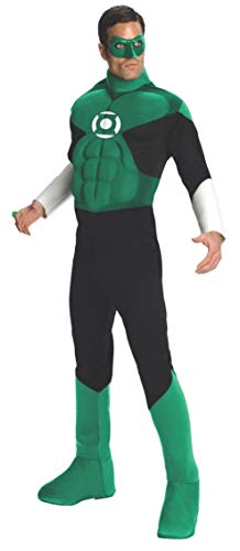 Green Lantern Deluxe Costume, Green, Large (Lantern Jacket Green)