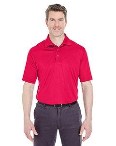 UltraClub Men's Cool & Dry Sport Performance Interlock Polo XL Red