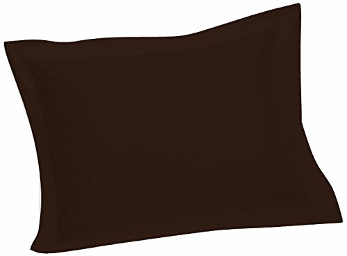 (Crescent Tailored Comfy Easy Care Pillow Sham Standard (Chocolate))