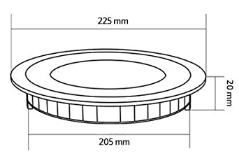 Placa LED Circular SuperSlim 18W Downlight LED Blanco Fr/ío 6000k-6500K efectoLED
