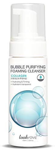 Look At Me Korean Skincare Bubble Purifying Collagen Foaming Facial Cleanser   Daily Hydrating Face Wash for all Skin Types (Best Face Wash For Me)